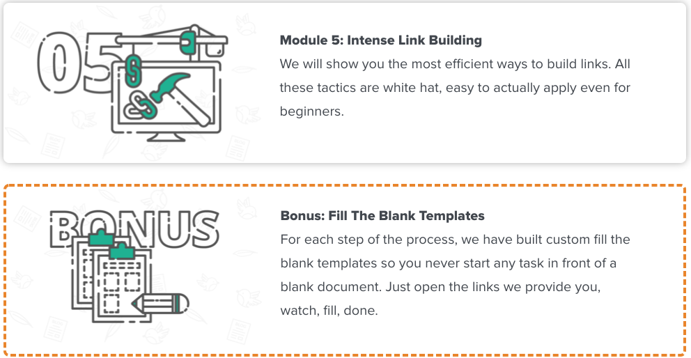 Modules 5 and bonus of Authority hacker