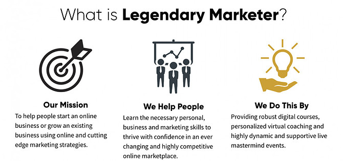 What is Legendary marketer about?
