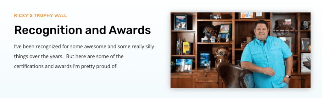 Ricky Kesler awards