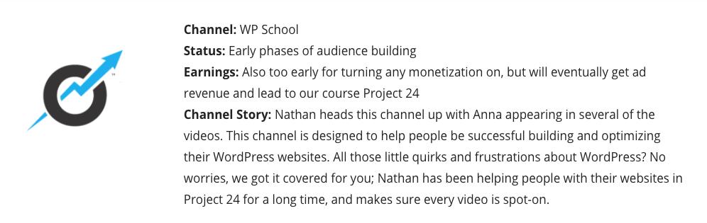 Niche Website income school project 24