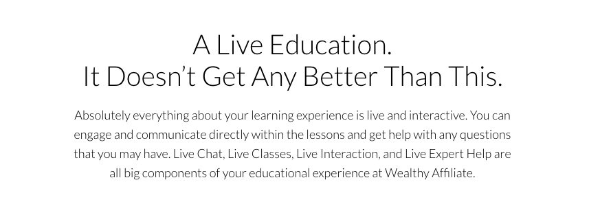 Wealthy Affiliate education