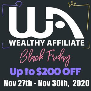 wealthy affiliate black friday banner 2020