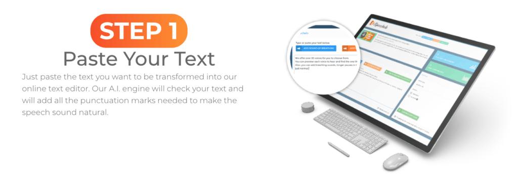 speechelo paste your text