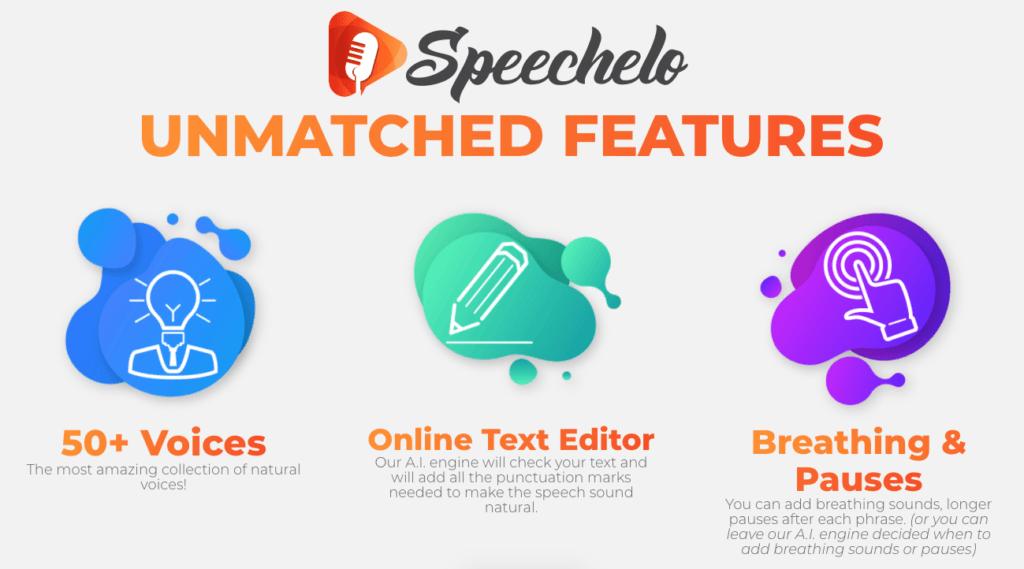 Features - speechelo