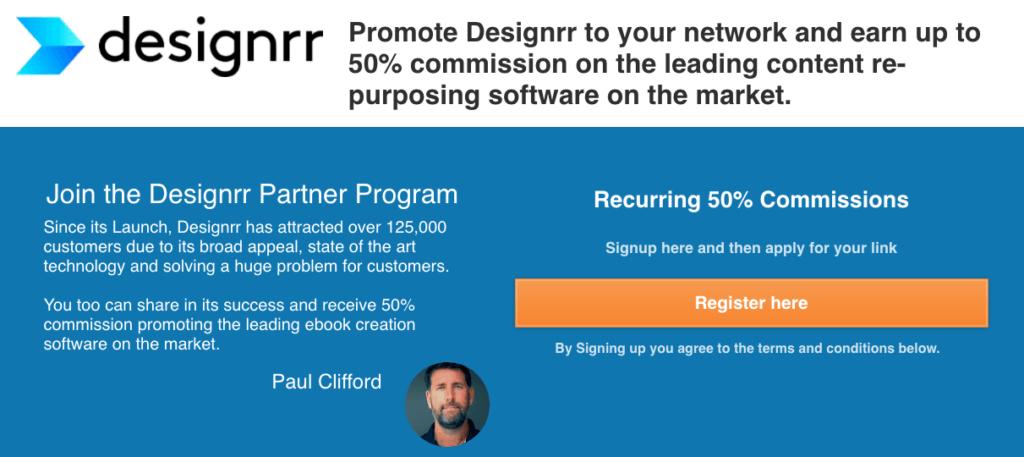 Designrr affiliate program