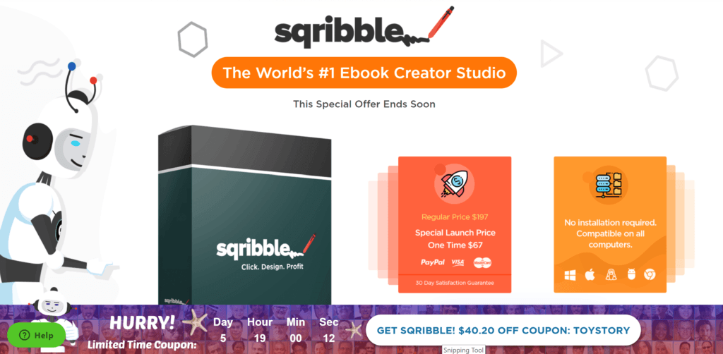 Sqribble - the world's number 1 ebook creator studio