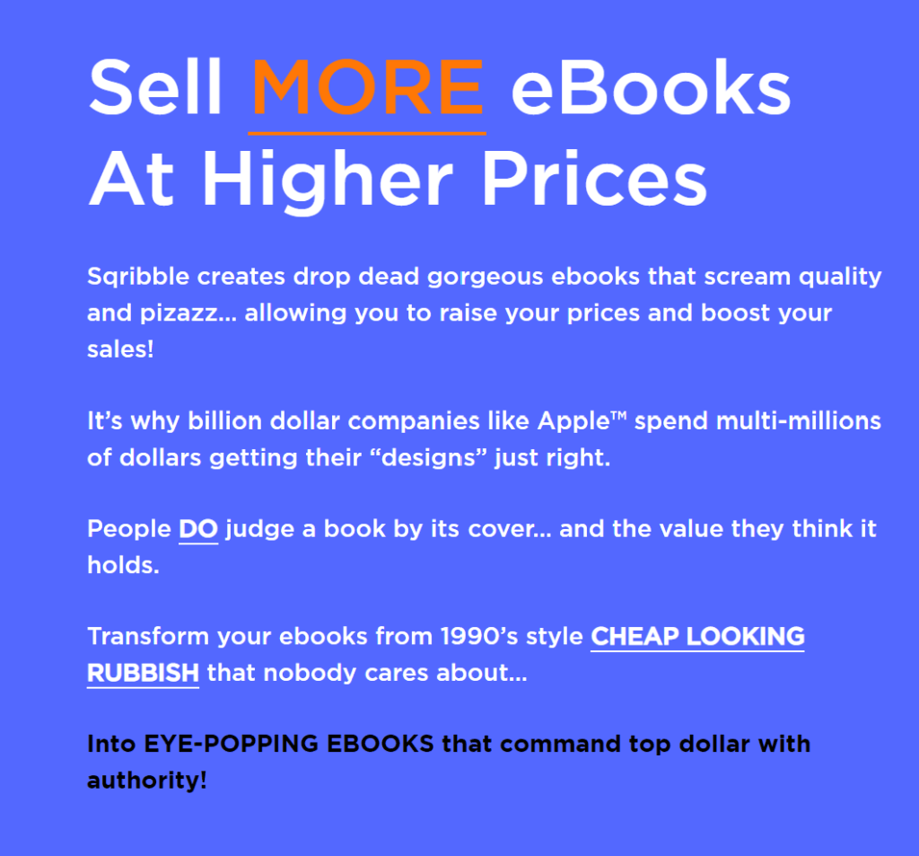 Sell more ebooks at higher prices