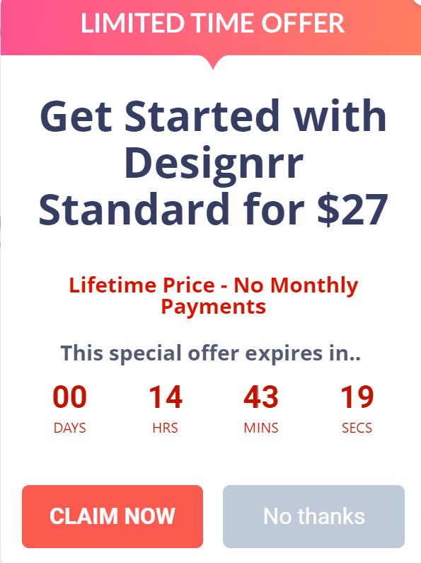 Designrr $27 offer