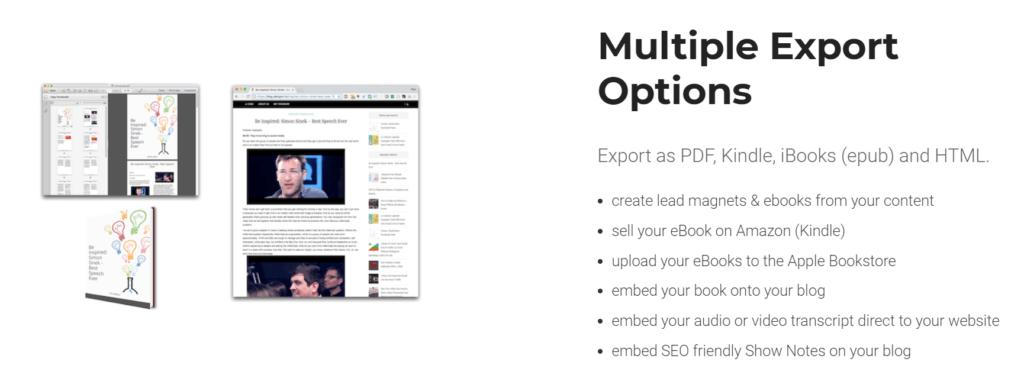 Designrr Multiple export options