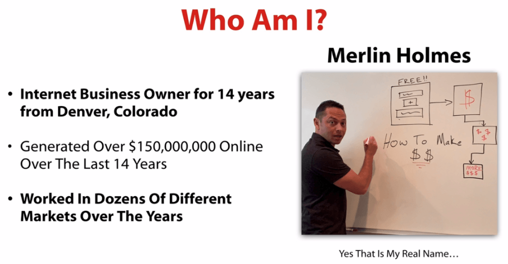 who is merlin holmes