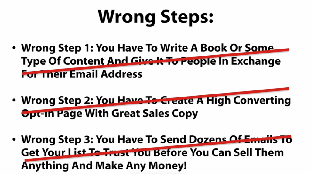 wrong steps to earn online