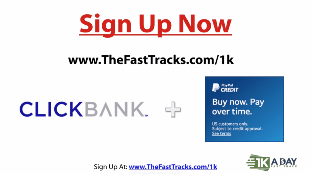 sign up page 1k a day fast track