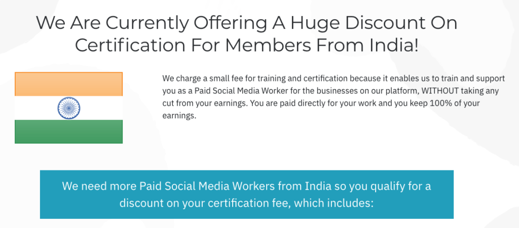 social media specialist jobs DISCOUNT for India