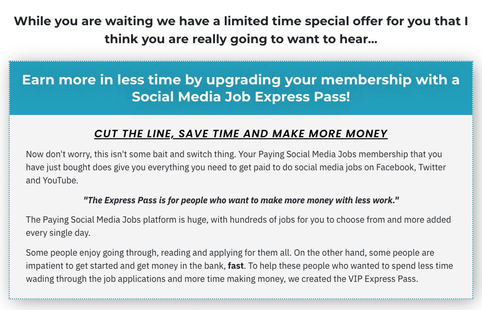 Upgrade No 1: VIP Express Pass ($67)