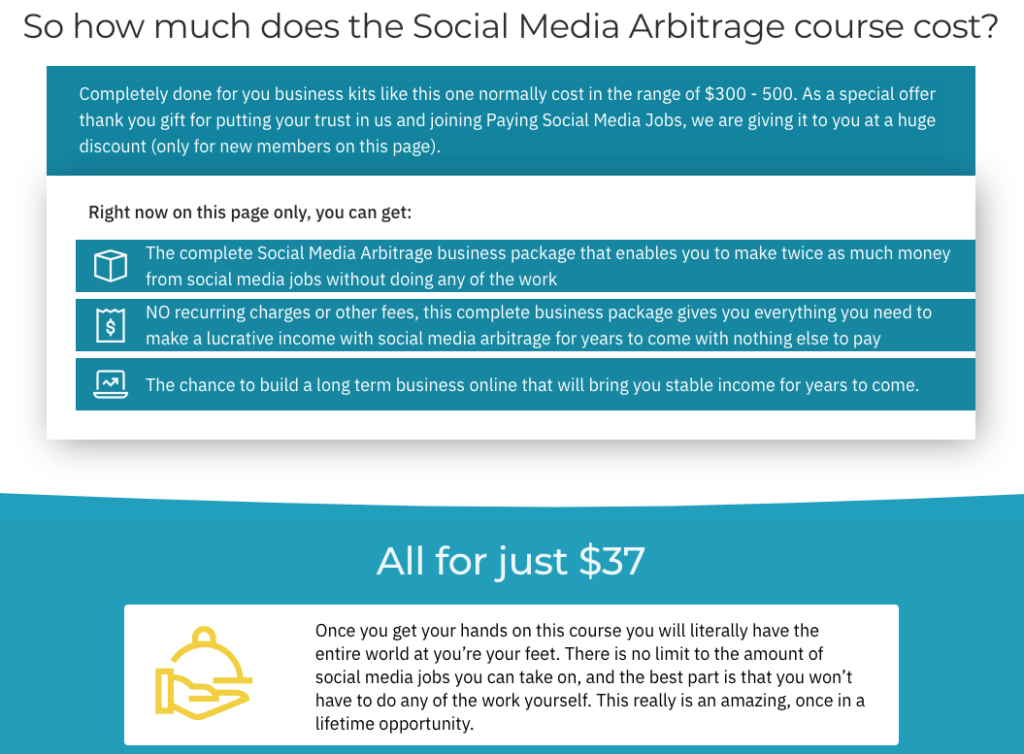 Upgrade No 3: Social Media Arbitrage ($37) SECRET