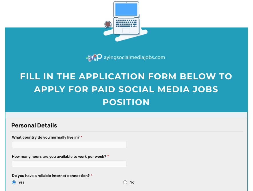 Create account in PayingSocialMediaJobs.com NOW