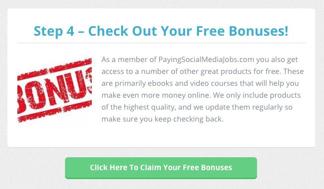 Inside The Members' Area Of PayingSocialMediaJobs.com