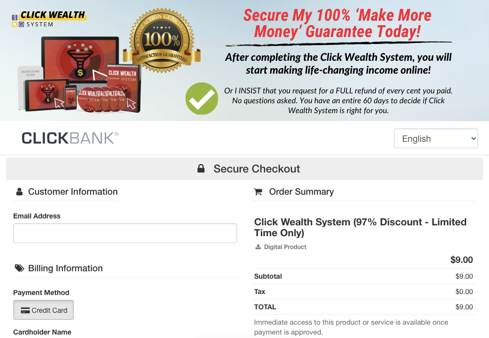 What Is The Click Wealth System login