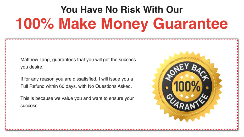 Click Wealth System guarantee