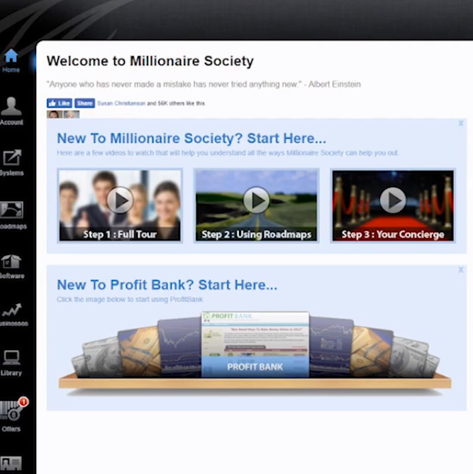 what is the millionaire society about