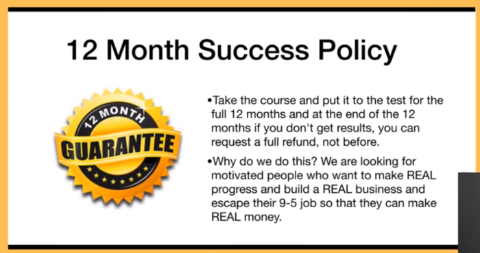 Success policy 12 months Commission Hero