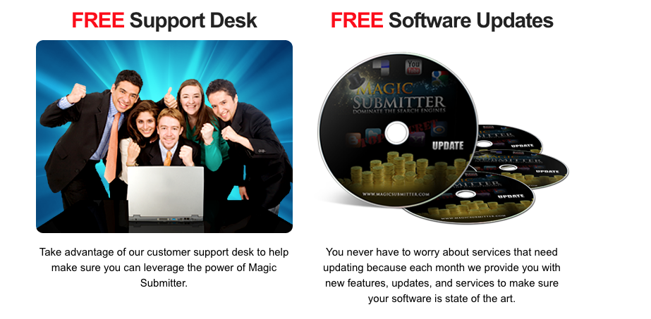 magic submitter free support and software