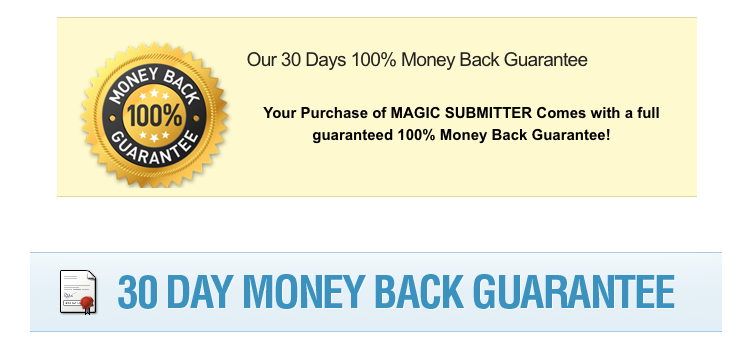 Magic submitter money back guarantee