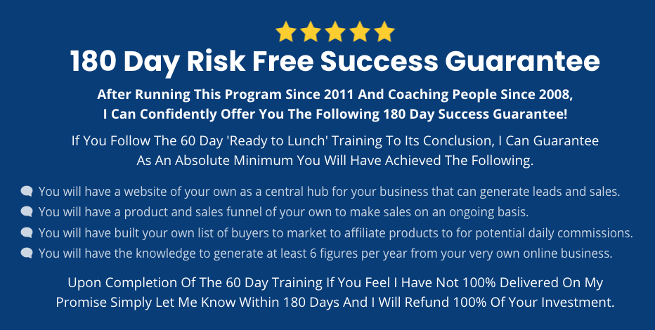 What is John Thornhill About. His 180 day guarantee.