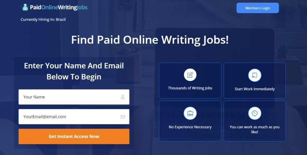 freelance writing jobs from home PaidOnlineWritingJobs.com review