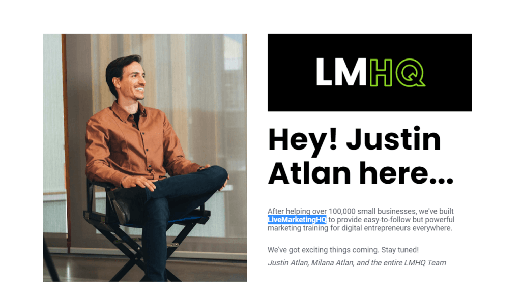What is live marketing HQ Justin Atlan