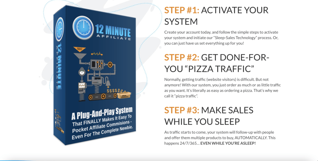 The Website of 12 Minute Affiliate System