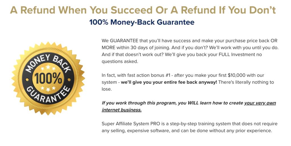 crestani's money back guarantee