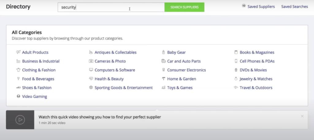 SaleHoo Directory Categories