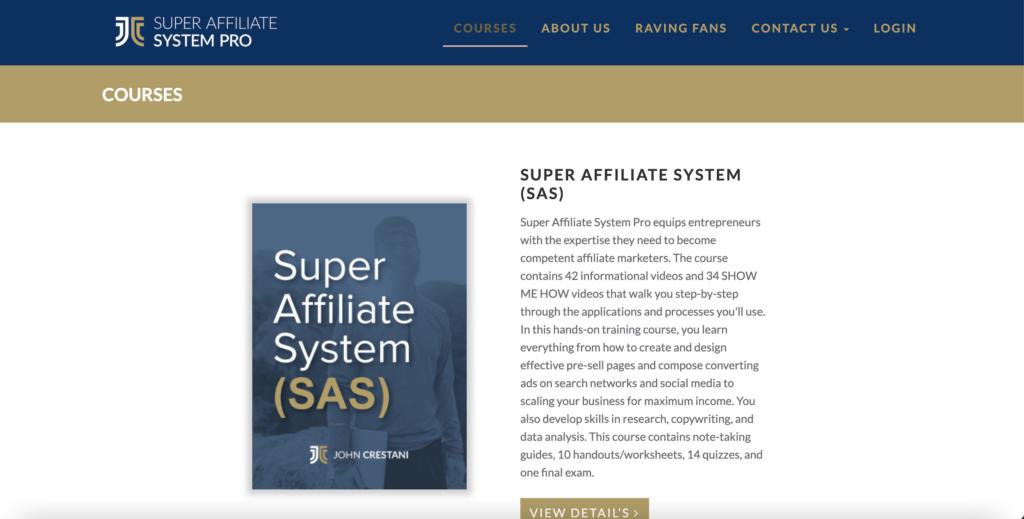 website of super affiliate