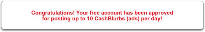 10 FREE CashBlurbs per day