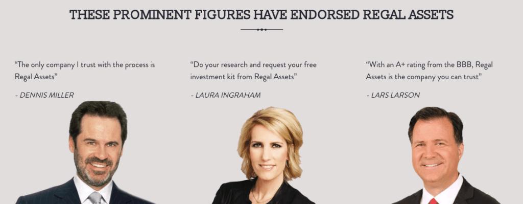 Celebrity Endorsements of Regal Assets