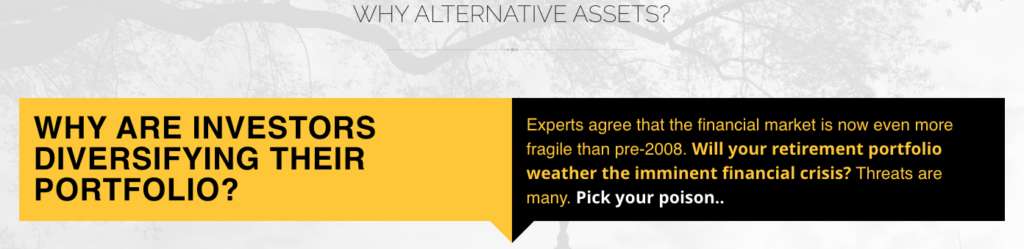 Why Do We Need Alternate Assets?