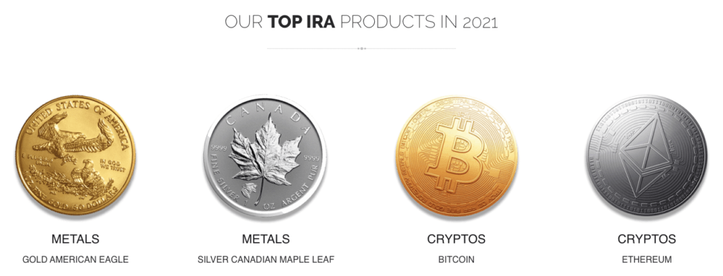Top IRA products of RA Wealth