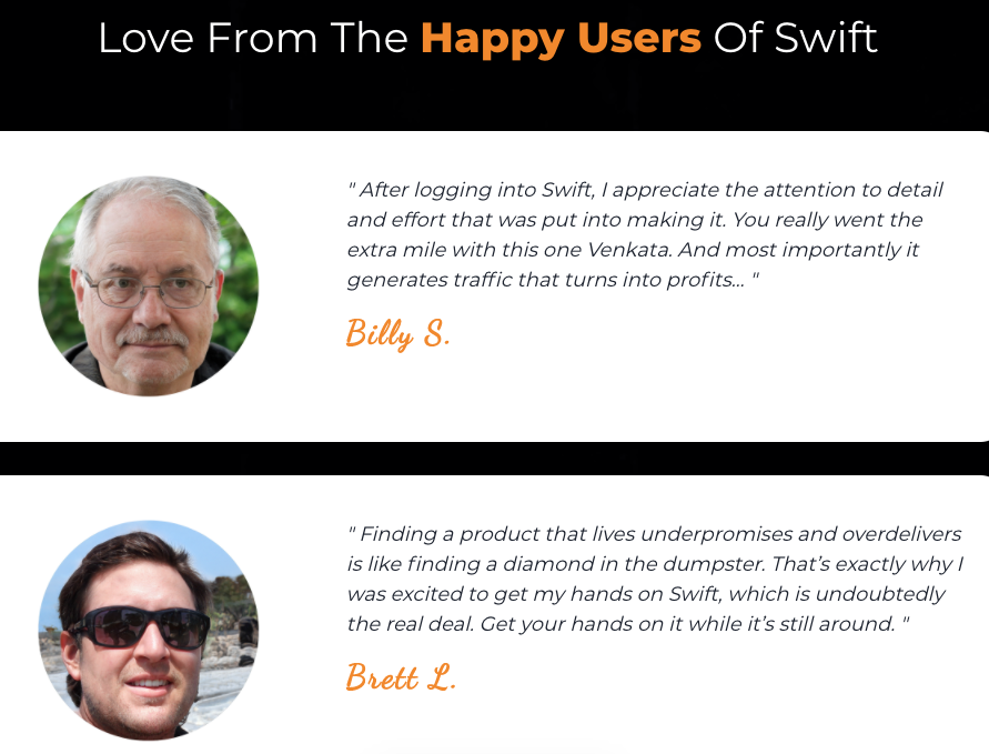 Testimonials About Swift