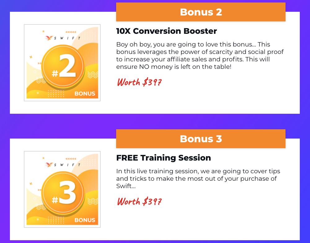 Free bonuses with Swift