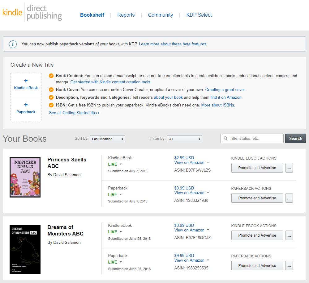 amazon kindle interface