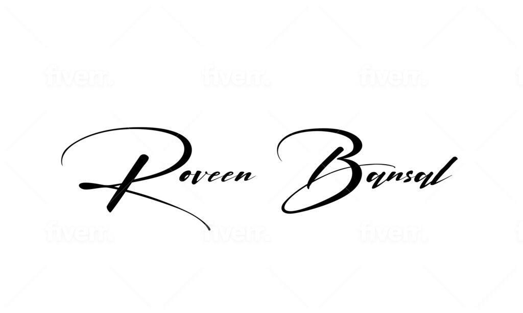 Roveen Bansal Signature Logo