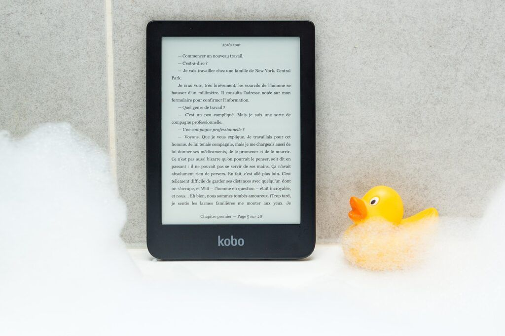 ebook on kobo, and shower duck